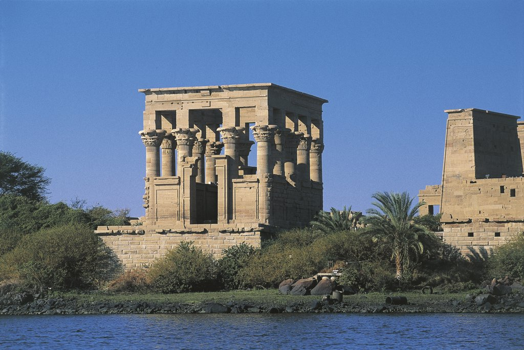 Stock Photo: 1788-2457 Egypt - Nubian monuments at Philae (UNESCO World Heritage List, 1979). Roman Kiosk of Trajan