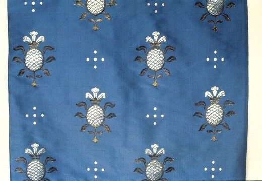 Stock Photo: 1788-27721 Textiles, 15th century. Ghirlandaio pattern brocade.