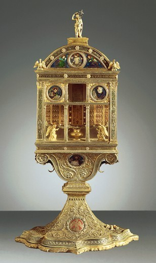 Stock Photo: 1788-27780 Goldsmith's art, Italy, 16th century. Reliquary of the Libretto, by Paolo di Giovanni Sogliani, 1501.