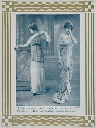 Stock Photo: 1788-28398 Andree Pascal (1882-1969) and Marcelle Praince, actresses, France 20th century.