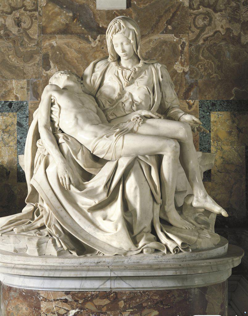 Italy - Lazio Region - Vatican City - Basilica of St. Peter - Pietas by Michelangelo : Stock Photo