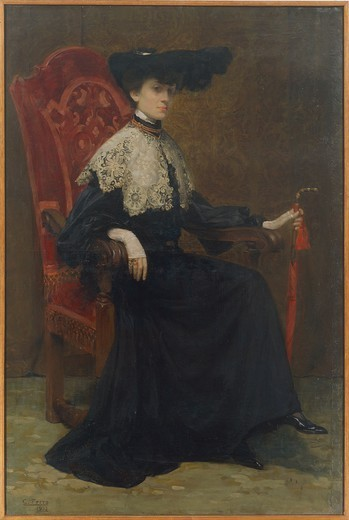 Stock Photo: 1788-28850 Cesare Ferro (1880-1934), Portrait of a Lady, 1903, oil on canvas, 184x124 cm.