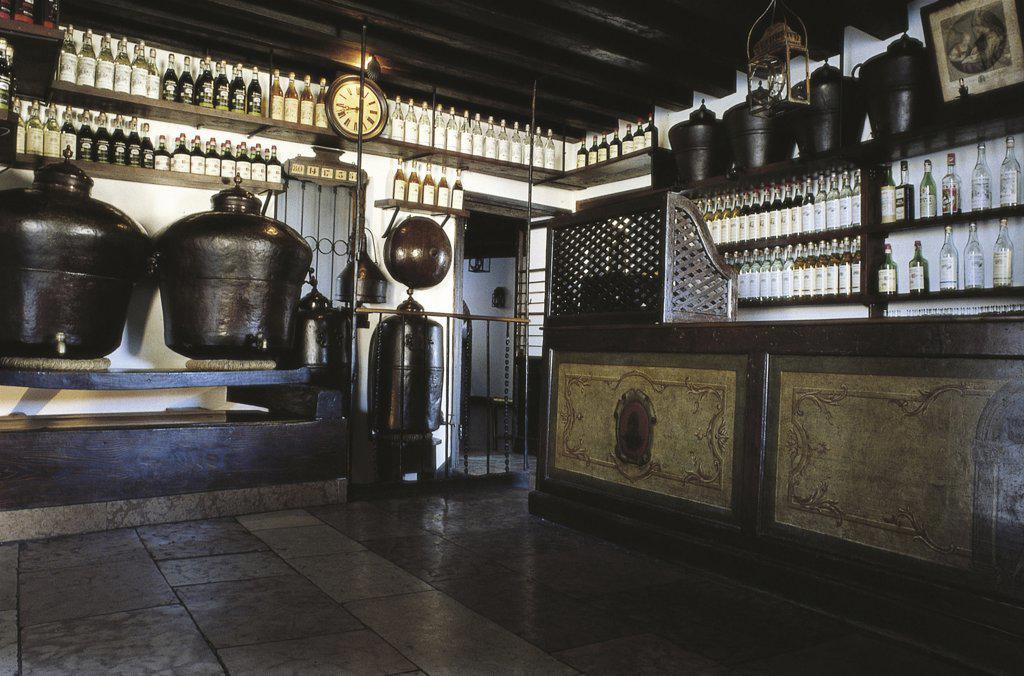 Italy - Veneto Region - Bassano del Grappa - Old tavern - Interior : Stock Photo