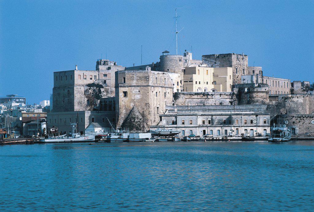 Italy - Apulia Region - Brindisi - Suevian Castle : Stock Photo