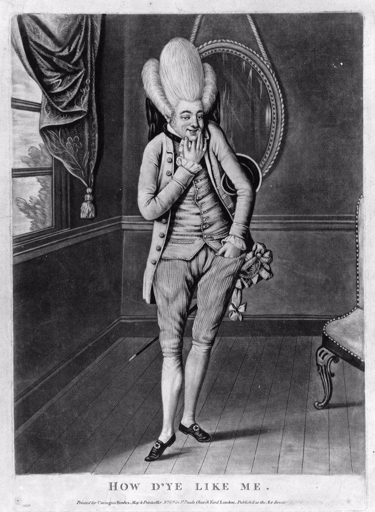 Stock Photo: 1788-31129 England, 18th century. Carington Bowles: How D'ye like me?, circa 1770.
