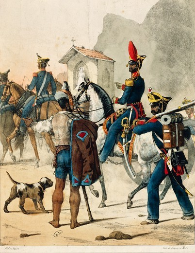 Stock Photo: 1788-32056 Militaria, Italy, 19th century. Neapolitan Artillery, 1820