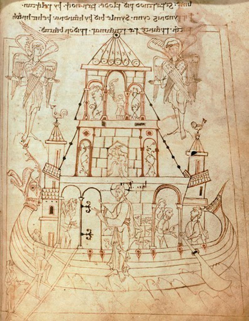Christ's life, miniature from Junius manuscript, England 9th Century. : Stock Photo