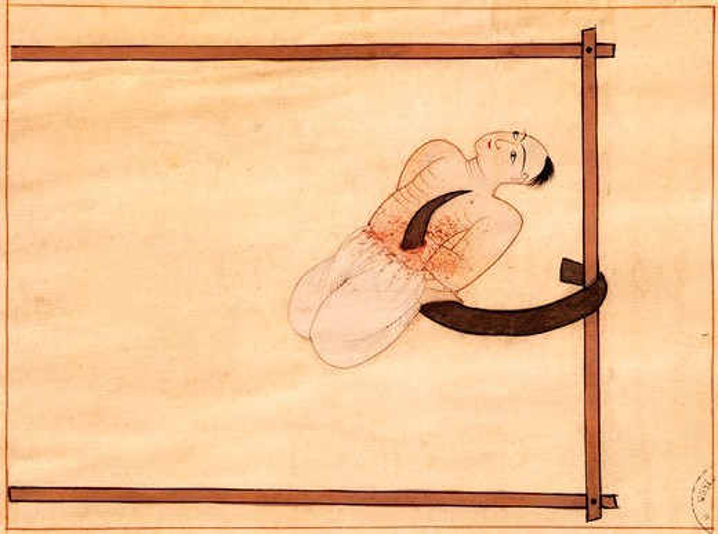 Miniature from Turkish Memories, Arabic manuscript, Cicogna Codex, Turkey 17th Century. : Stock Photo