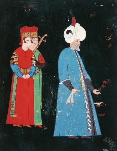 Stock Photo: 1788-32951 Sultan Suleiman the Magnificent, miniature, 16th Century.