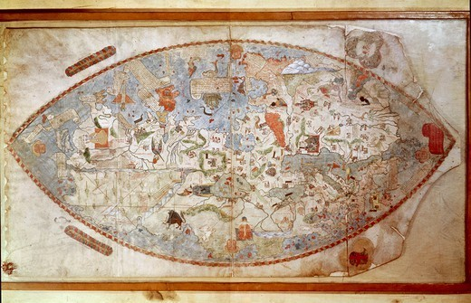 Stock Photo: 1788-34317 Cartography, Italy, 15th century. Map attributed to Paolo dal Pozzo Toscanelli (1397-1482).