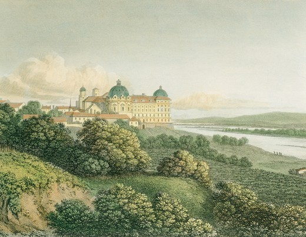 Stock Photo: 1788-35212 Klosterneuburg Castle, near Vienna, Austria 19th Century.