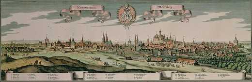 Stock Photo: 1788-35445 Germany, 18th century. View of Nuremburg city.