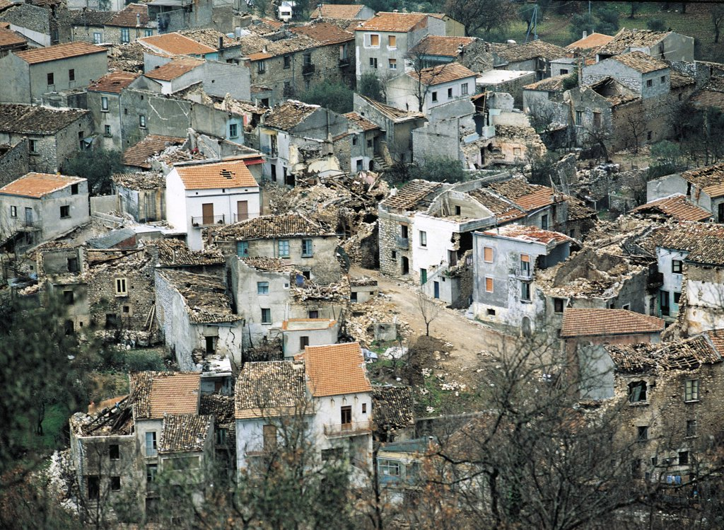 Stock Photo: 1788-3663 Italy - Campania Region - San Gregorio Magno - Earthquake