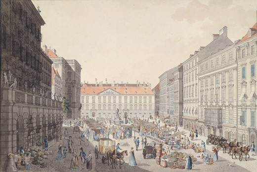 Stock Photo: 1788-37757 Vienna Neumarkt (New Market), Austria 18th Century.