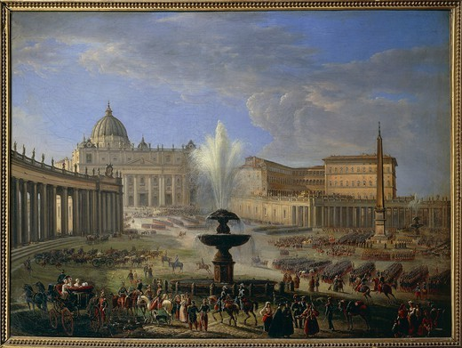 Stock Photo: 1788-38360 Michelangelo Pacetti (1793-1855). Rome. St. Peter's Square.