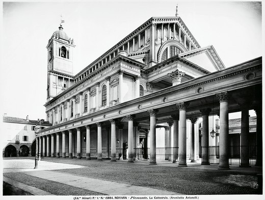 Stock Photo: 1788-38703 The neo-classical cathedral of Novara, designed by Alessandro Antonelli (1863-1869), Italy 20th Century.
