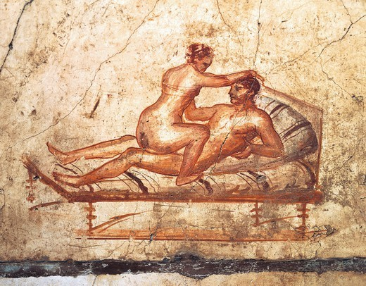 Stock Photo: 1788-38758 Italy, Campania Region, Naples Province, Pompei, House of Vettii, Erotic fresco  UNESCO World Heritage Site