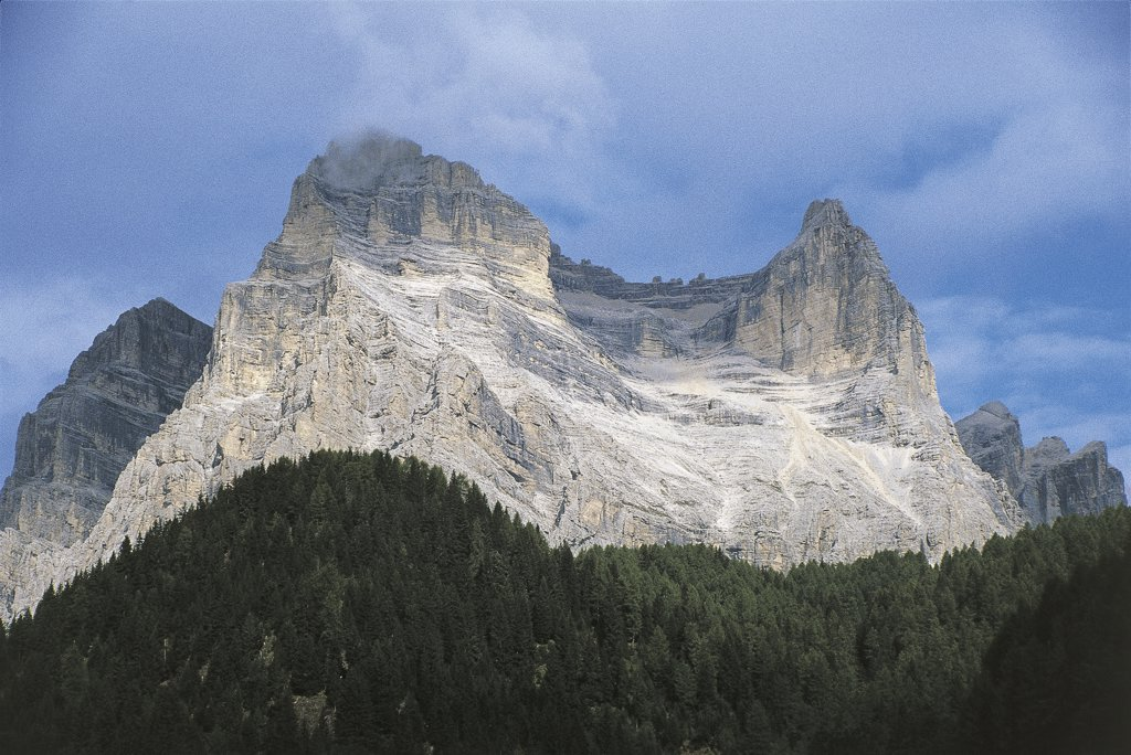 Stock Photo: 1788-3913 Italy - Veneto Region - Zoppe di Cadore and Mount Pelmo