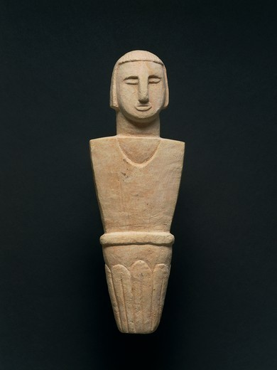 Stock Photo: 1788-39492 Prehistory, Malta, Neolithic. Votive statue. From Brochtorff Circle at Xaghra, Gozo Island