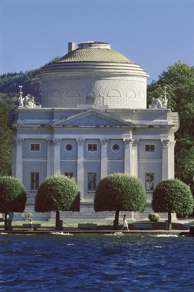 Stock Photo: 1788-3954 Italy - Lombardy Region - Como - Voltiano Temple