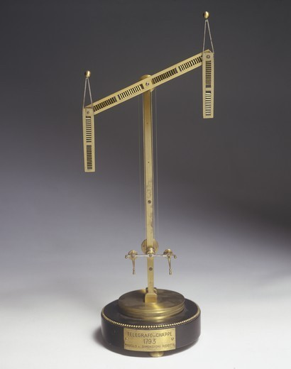 Stock Photo: 1788-40638 Italy - 18th century - Optical telegraph invented by Claude Chappe (1763-1805)