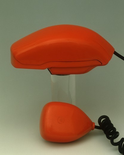 "Stock Photo: 1788-40678 Italy, 20th century - Sit-Siemens """"Grillo"""" telephone, 1965, designed by Richard Sapper and Marco Zanuso."