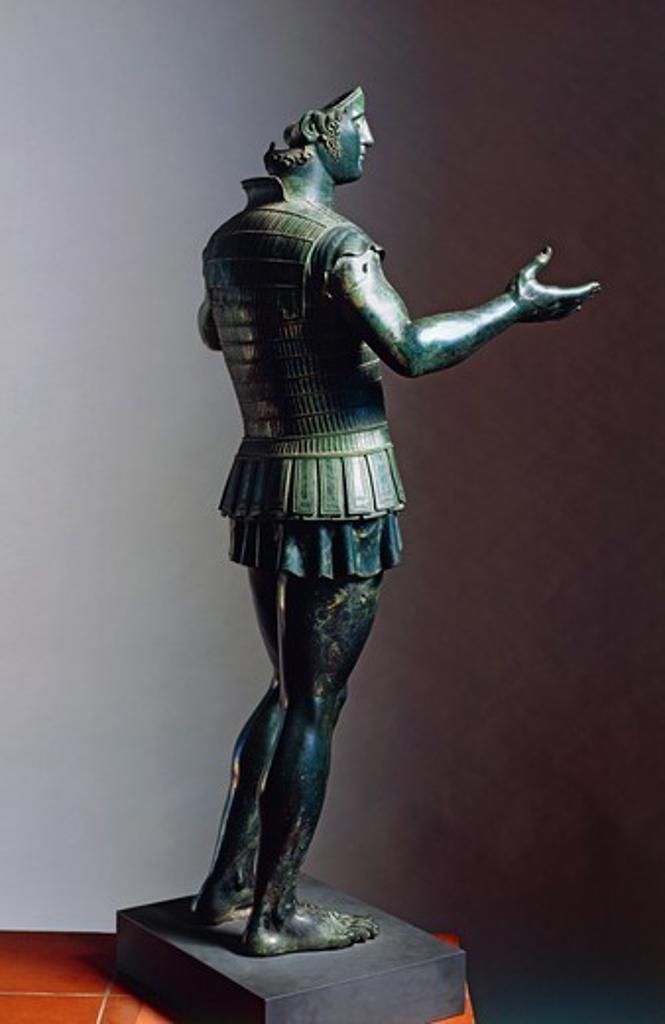 Stock Photo: 1788-40860 Bronze statue of a warrior (known as Marte di Todi), from Todi. Etruscan Civilization, ca 400 BC.