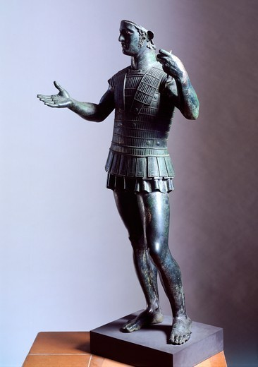 Stock Photo: 1788-40861 Bronze statue of a warrior (known as Marte di Todi), from Todi. Etruscan Civilization, ca 400 BC.
