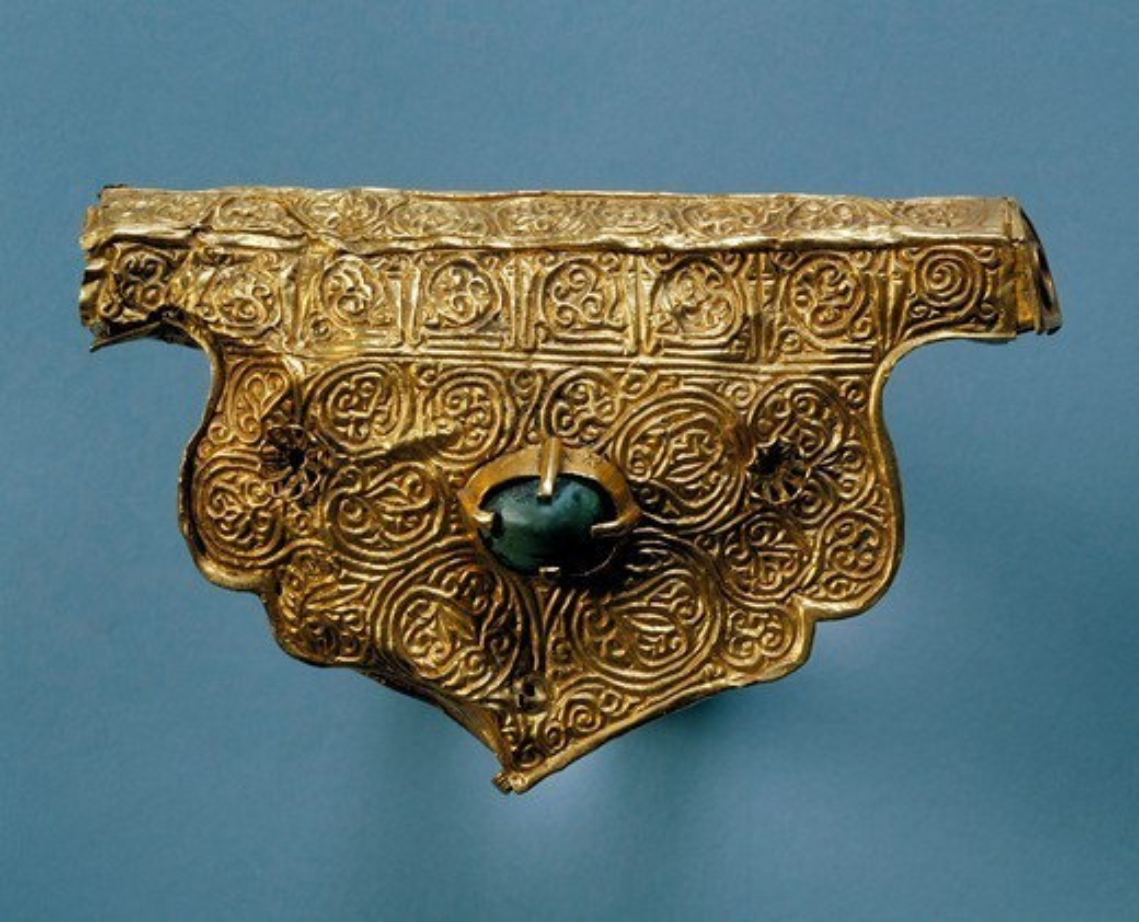 Phylactery from the treasure of Nejzac, Ukraine. Mongolian Civilization, 14th Century. : Stock Photo