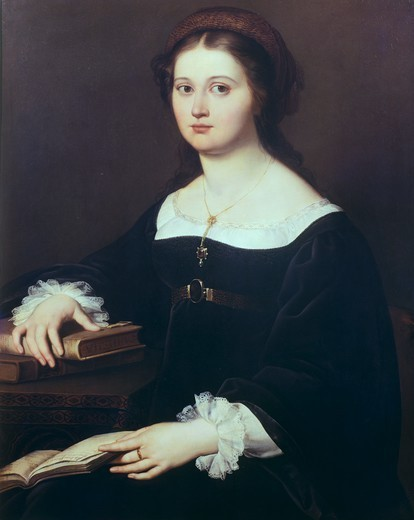 Stock Photo: 1788-42267 Portrait of Costanza Perticari Monti, 1821, by Filippo Agricola (1795-1857).