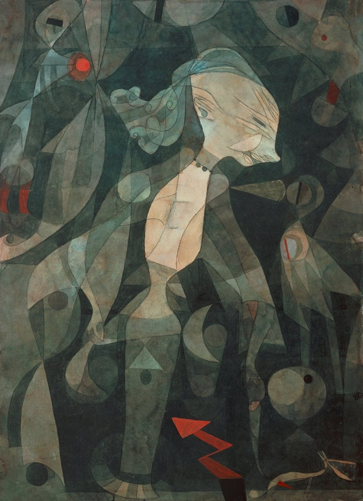 Stock Photo: 1788-42349 A young lady's adventure, by Paul Klee (1879-1940).