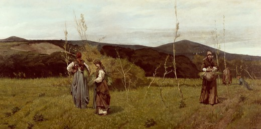 The Macchiaioli (Italian art group), by Giovanni Fattori (1825-1908). : Stock Photo