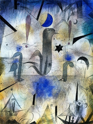 The sirens of ships, 1917, by Paul Klee (1879-1940). Detail. : Stock Photo