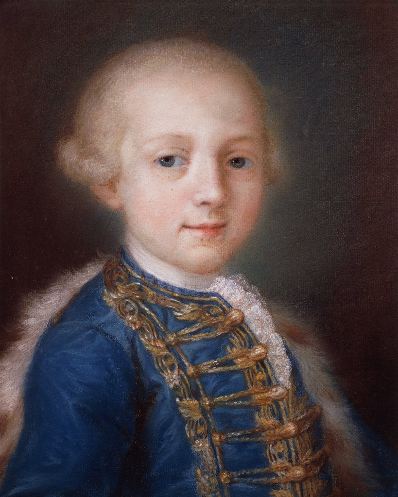 Stock Photo: 1788-42788 Portrait of a Young Boy, by Rosalba Carriera (1673-1757).
