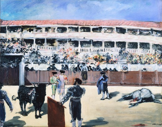 Stock Photo: 1788-42910 The bullfight, 1865-1866, oil on canvas, by Edouard Manet (1832-1883), 48x60 cm.