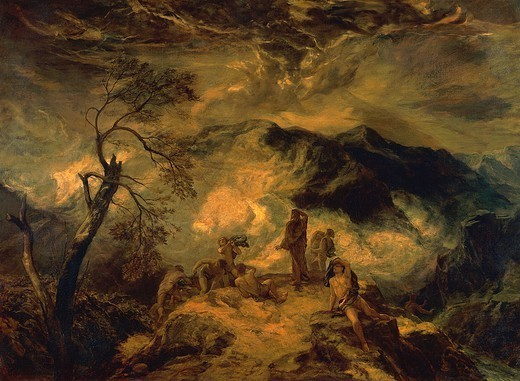 Stock Photo: 1788-42953 The vision of Ezekiel, pre-1875, by Paul Falconer Poole (1807-1879), oil on canvas, 137x187 cm.