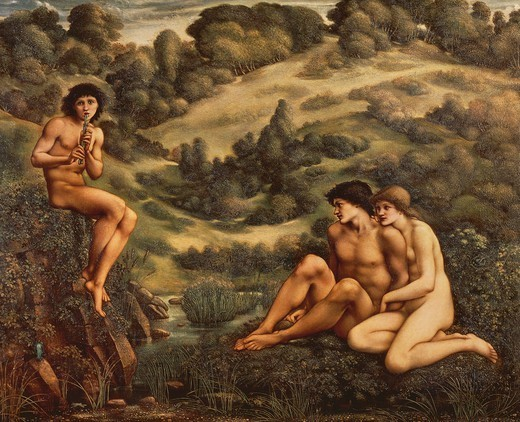 The Garden of Pan, 1886-1887, by Edward Burne-Jones (1833-1898). : Stock Photo