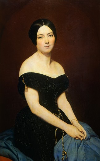 Portrait of Madame Edmond Caillard, 1842, by Ary Scheffer (1795-1858), : Stock Photo