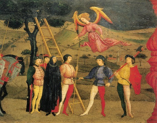 Stock Photo: 1788-43438 Predella of the Miracle of the Profaned Host, by Paolo Uccello (1397-1475). Detail.