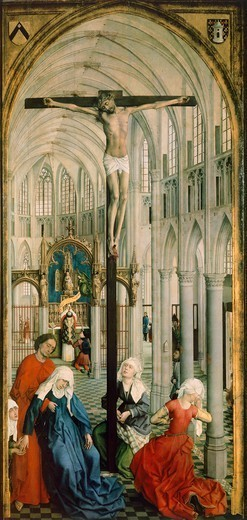 Stock Photo: 1788-43505 The Eucharist, the central panel of the Triptych of the Seven Sacraments, by Rogier van der Weyden (1399-1464).