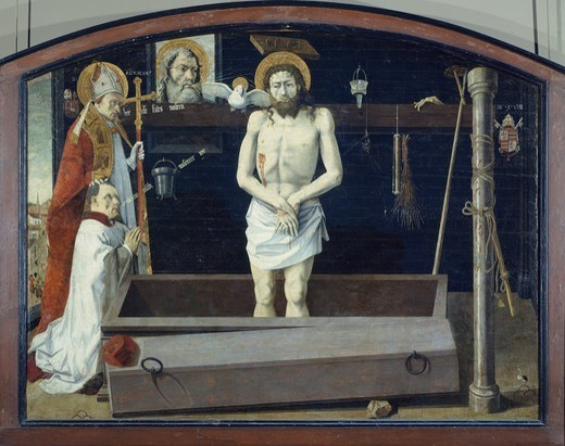Stock Photo: 1788-43553 The Boulbon Altarpiece, 1450-1460, artist from the Avignon School, the panel transferred onto canvas, 172x228 cm, France.