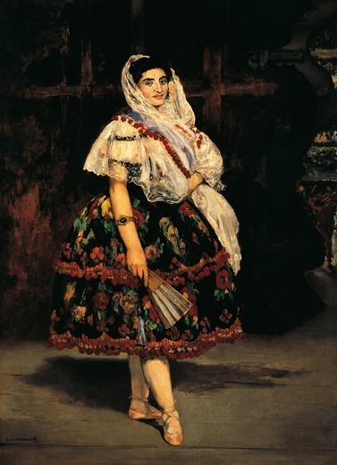 Stock Photo: 1788-43626 Lola of Valencia, 1862, by Edouard Manet (1832-1883).