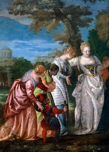 Stock Photo: 1788-43707 Mose rescued from the water, by Paolo Veronese (1528-1588).
