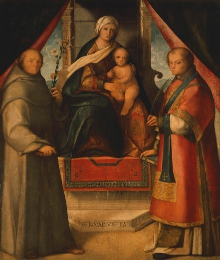 Stock Photo: 1788-43768 Madonna and Saints, 1518, by Boccaccino Boccaccio (1465-1525).