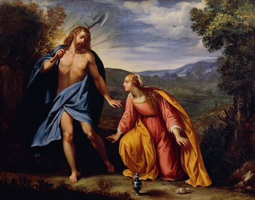 Noli Me Tangere (Touch Me Not), by Giuseppe Cesari, known as the Cavalier d'Arpino (1568-1640). : Stock Photo