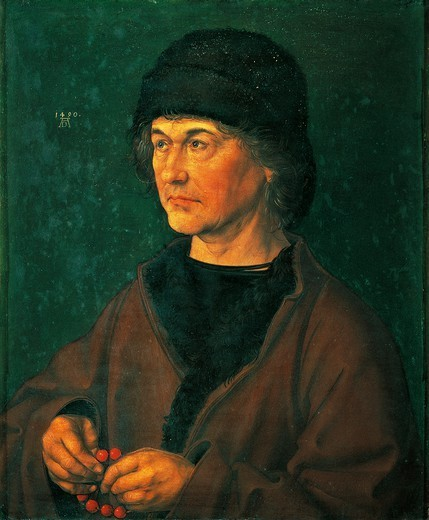 Portrait of his father, 1490, by Albrecht Durer (1471-1528). : Stock Photo