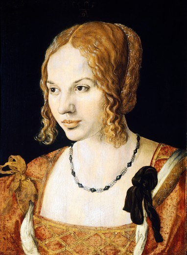 Stock Photo: 1788-43838 Portrait of a Venetian, by Albrecht Durer (1471-1528).