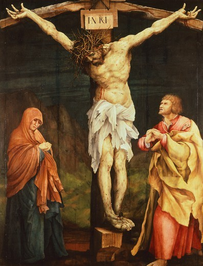 Stock Photo: 1788-43847 Crucifixion, 1523-1525, by Matthias Grunewald (ca 1470-1530).