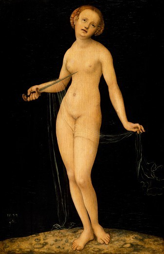 Stock Photo: 1788-43890 Lucretia, by Lucas Cranach the Elder (1472-1553).