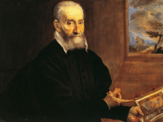 Portrait of Giulio Clovio, by El Greco (1541-1614). : Stock Photo
